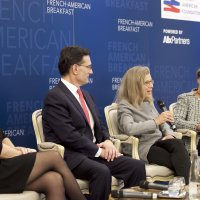 Karen Tramontano Speaks on the 2018 US Midterm Elections at the French-American Foundation – France in Paris, France.