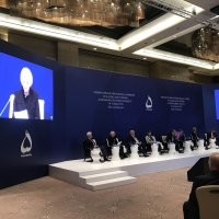 Sally Painter Speaks at the 7th Annual Global Baku Forum in Baku, Azerbaijan.